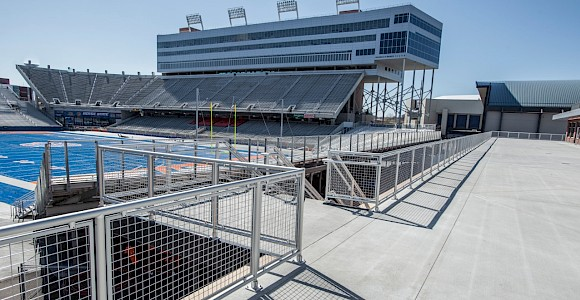 Boise State University Stadium - Interna-Rail® w/Wire Mesh Infill